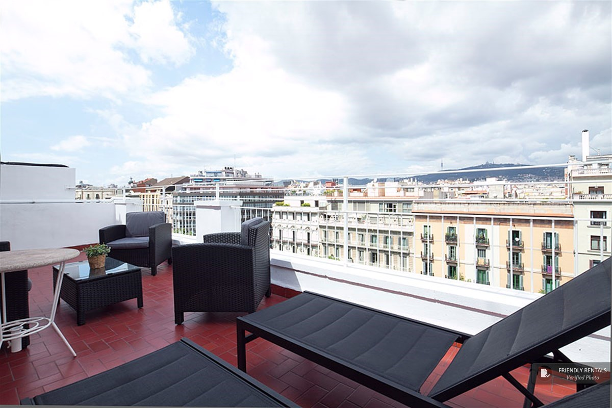 The Gran Via Terrace IV Apartment in Barcelona