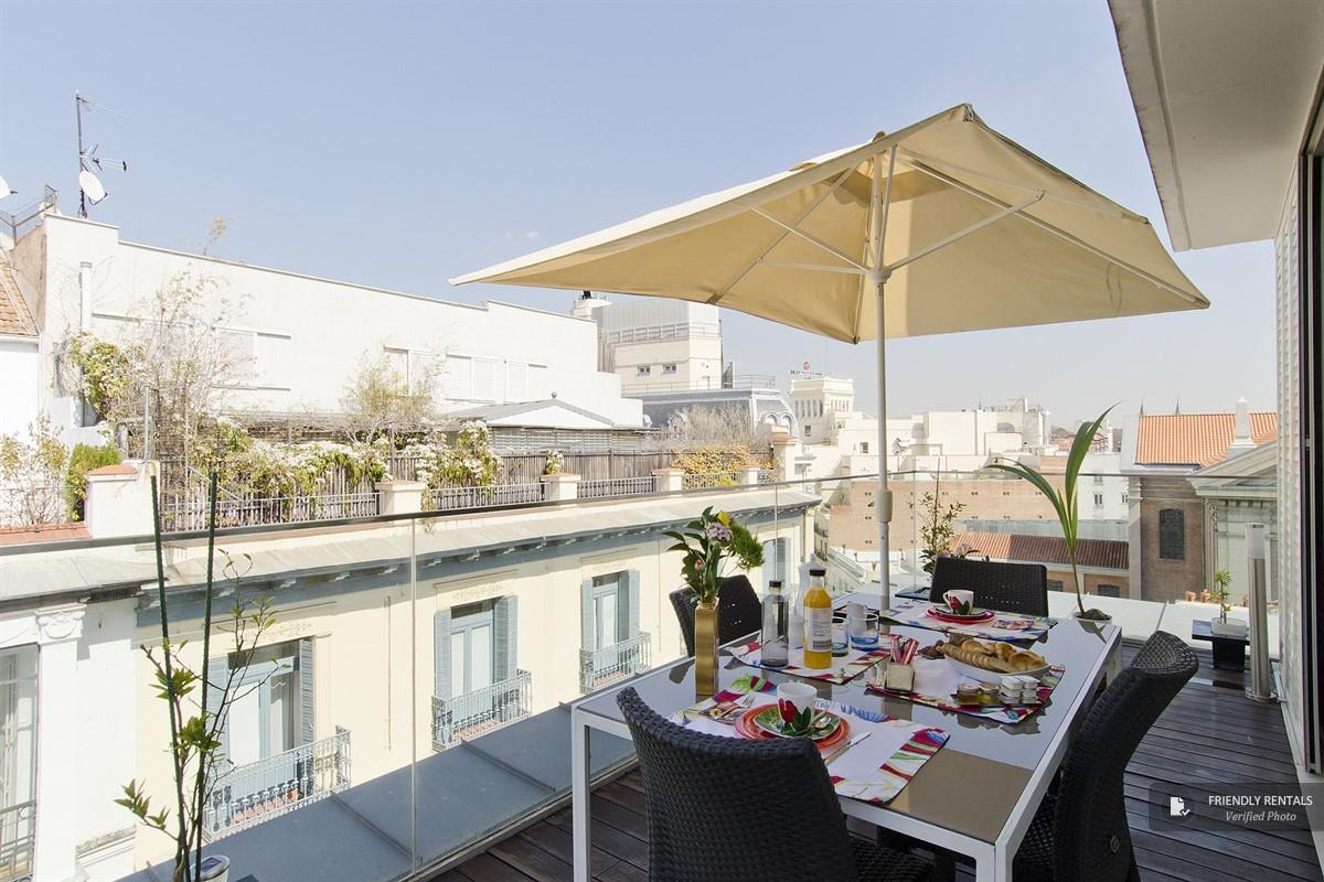 The Cervantes Terrace apartment in Madrid