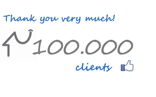 100,000 bookings thanks to our 100,000 clients!