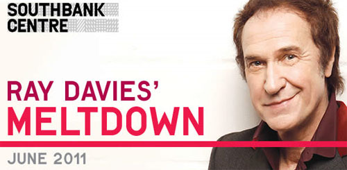 Ray Davies' Meltdown Festival 2011 in the London Southbank Centre this June