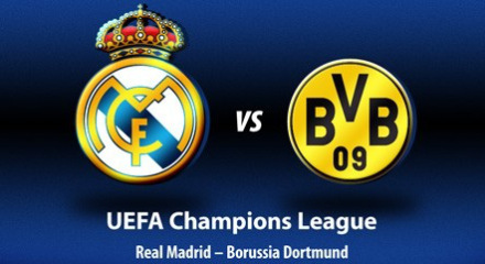 Semi-Final of the Champions League 2013 Real Madrid v Borussia Dortmund