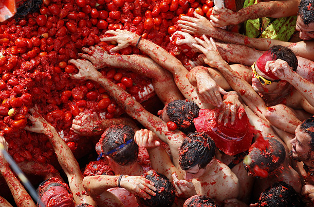 La Tomatina! A Massive Tomato Fight!