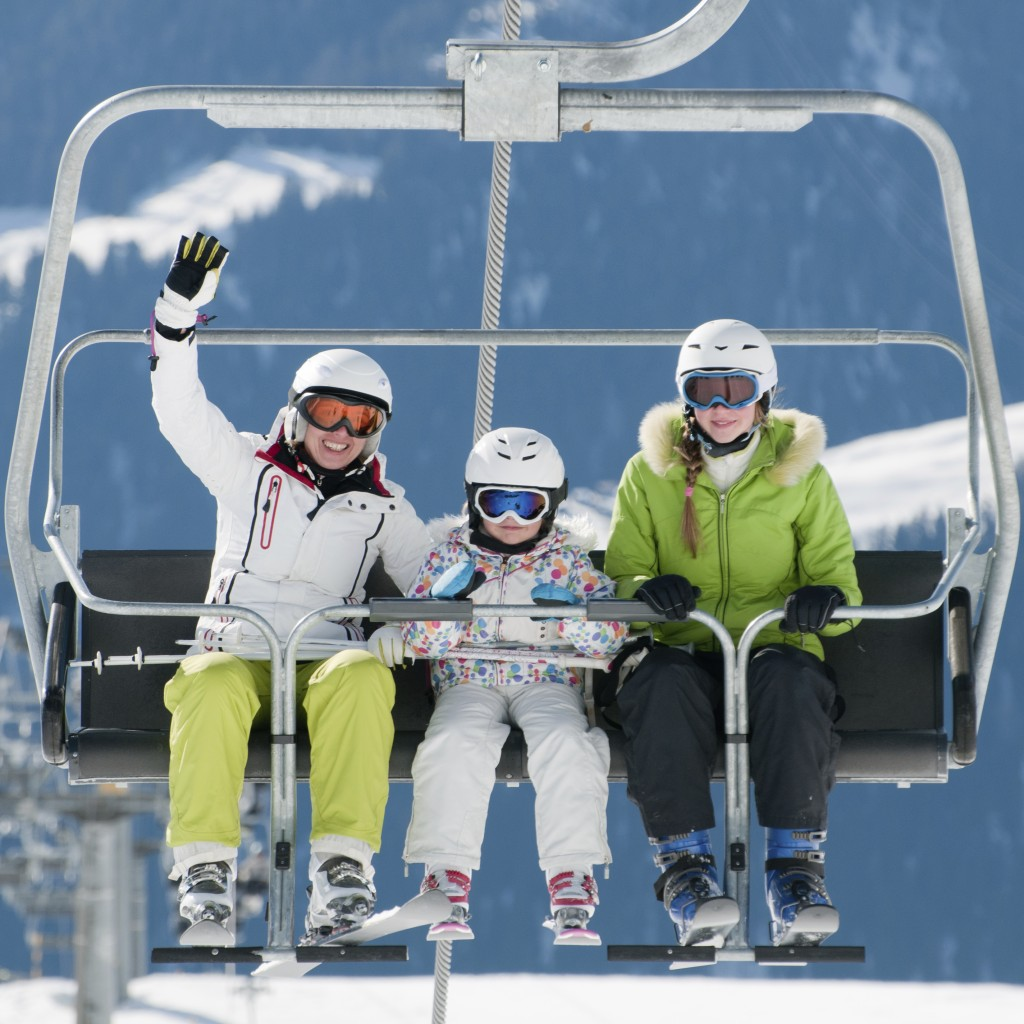 A family skiing holiday is fun and safe if you follow the rules