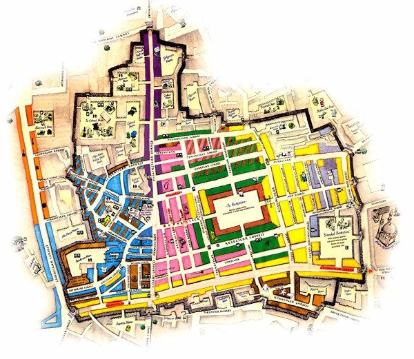 Map of the Grand Bazaar, Istanbul