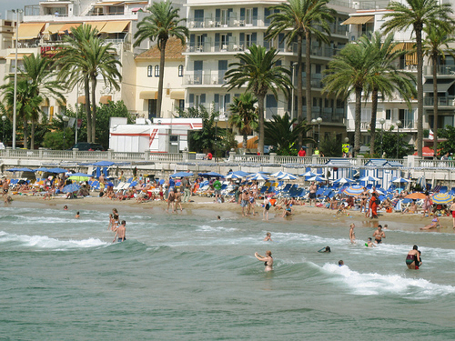 Beach in Sitges