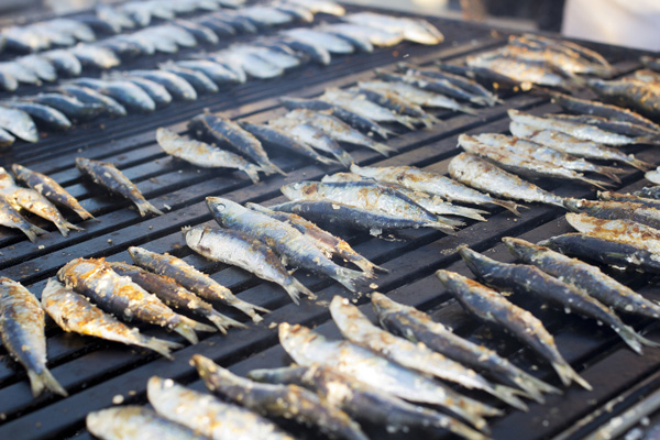 Grilled Sardinas in the Algarve, Portugal