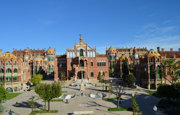 antike Hospital de Sant Pau in Barcelona