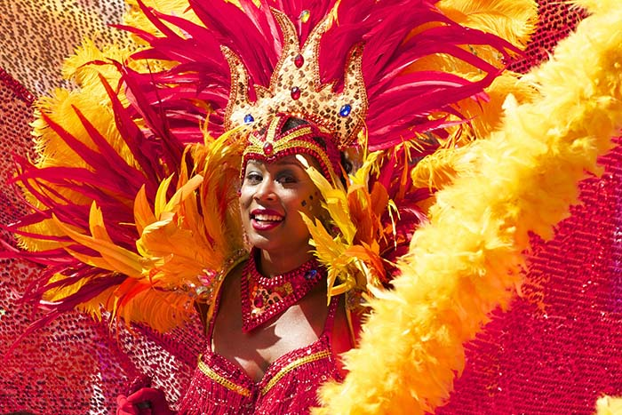 mujer carnaval Notting Hill