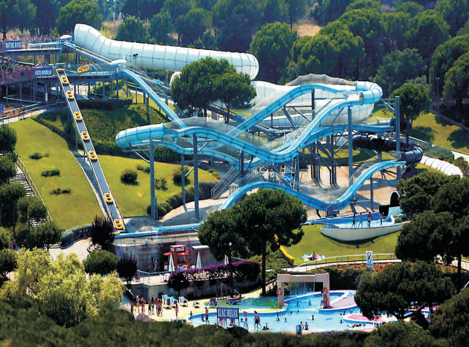 Water parks on the Costa Brava