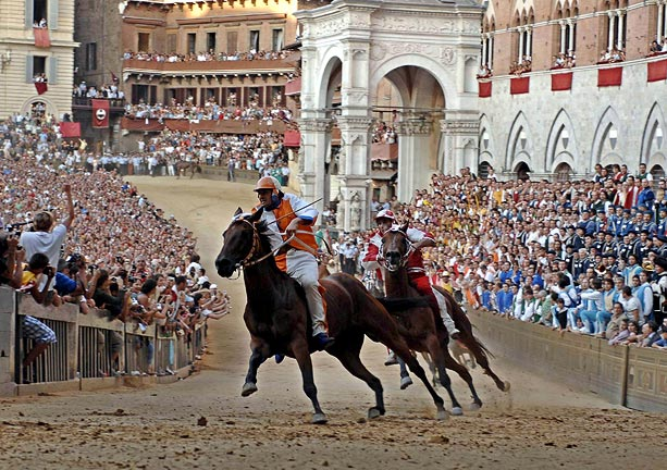 The Palio di Siena horse race 2015