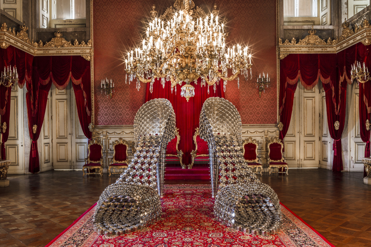 Joana Vasconcelos' Contemporary Art takes over the Palacio da Ajuda in 2013