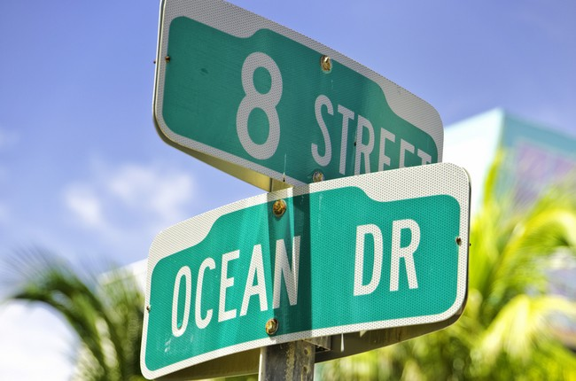 Ocean Drive, the most famous street in Miami Beach