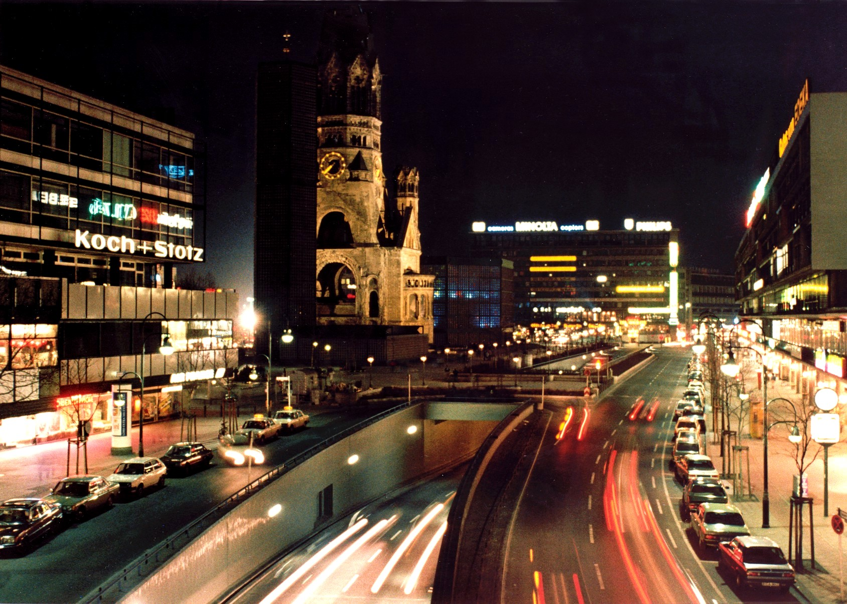 The city of Berlin by night