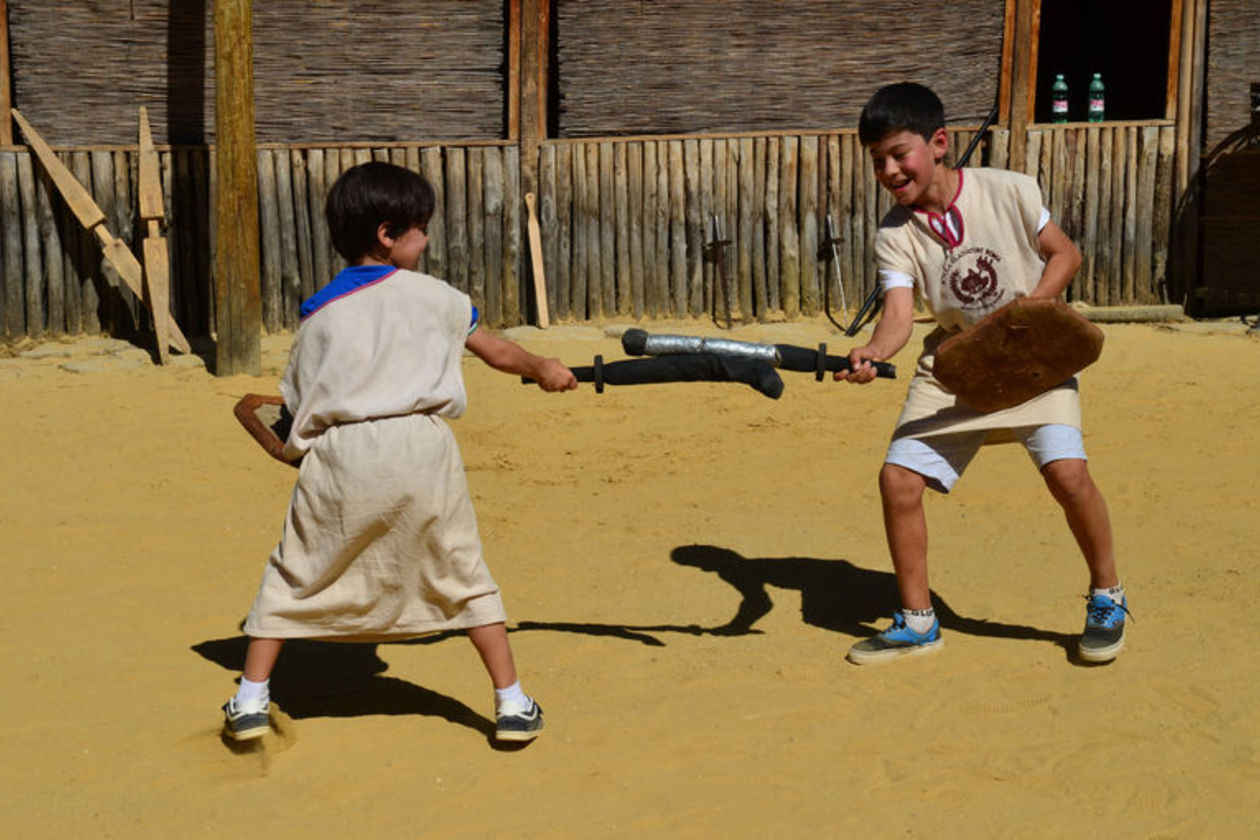 Gladiator school for kids in Rome