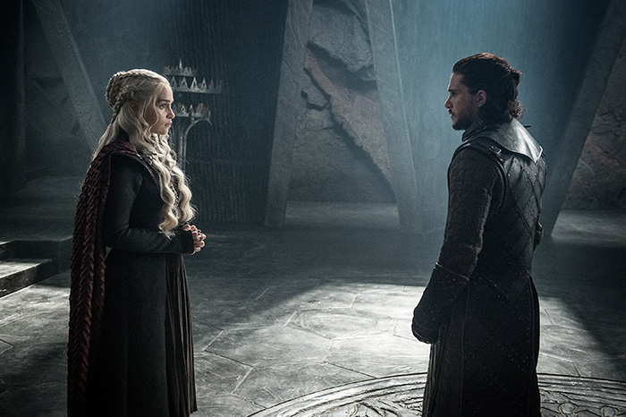Khaleesi and Jon Snow