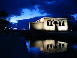 Temple of Debod Madrid by night
